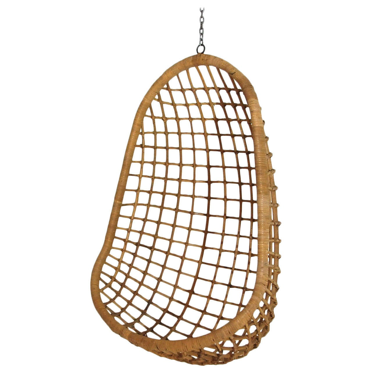 Hanging Wicker Chair At 1stdibs