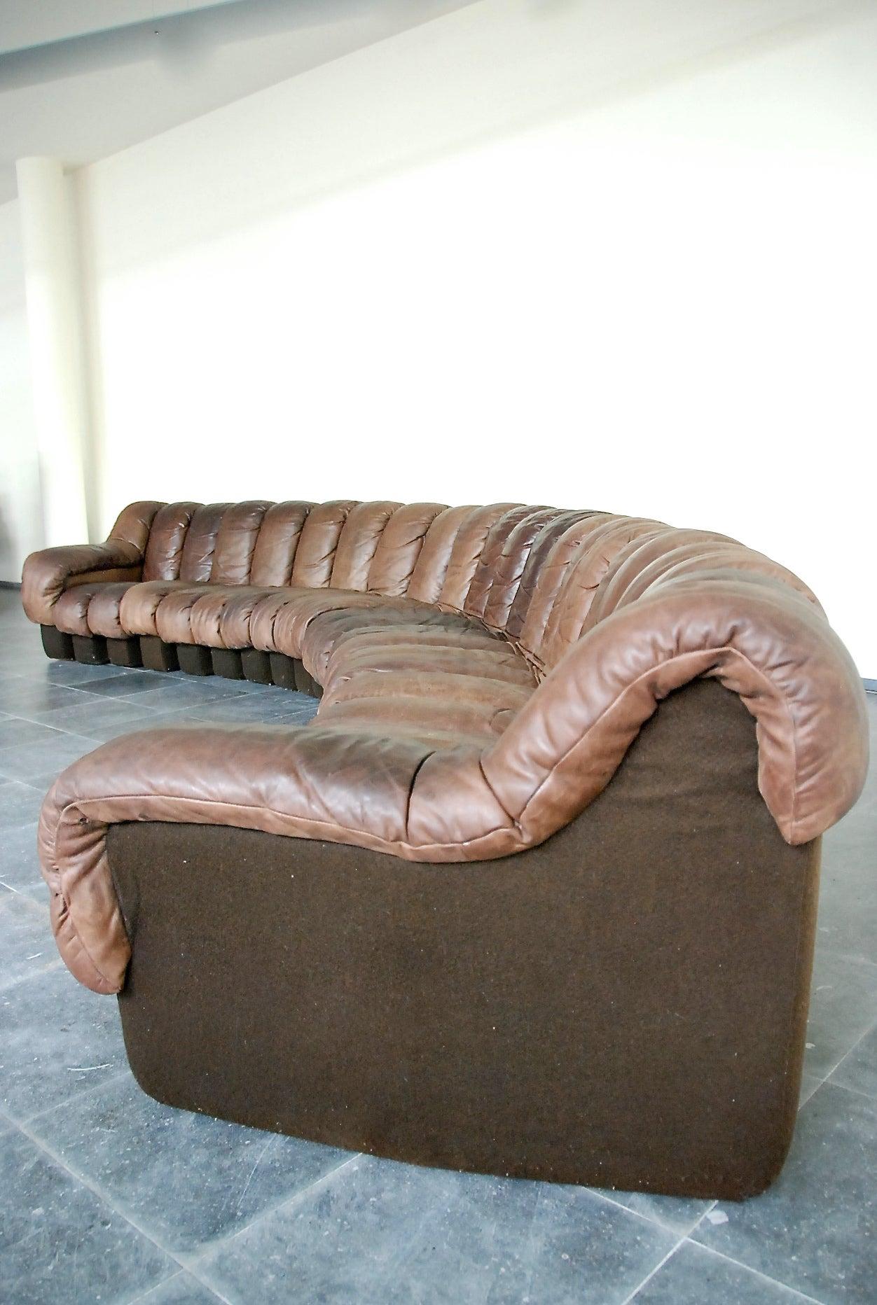 "De Sede ""Non Stop"" Sectional Sofa in 22 Pieces at 1stdibs"