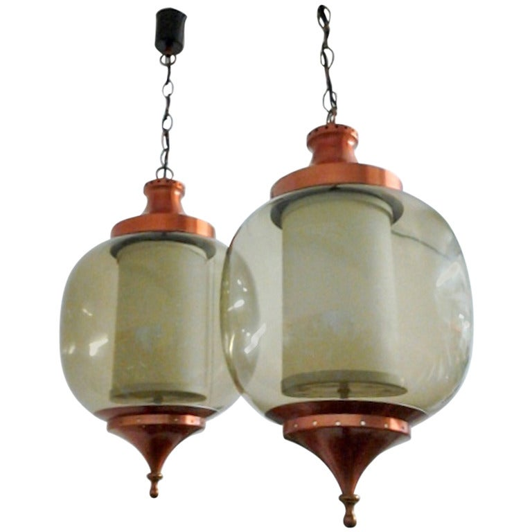 Late 1950 S Pair Of French Lanterns At 1stdibs