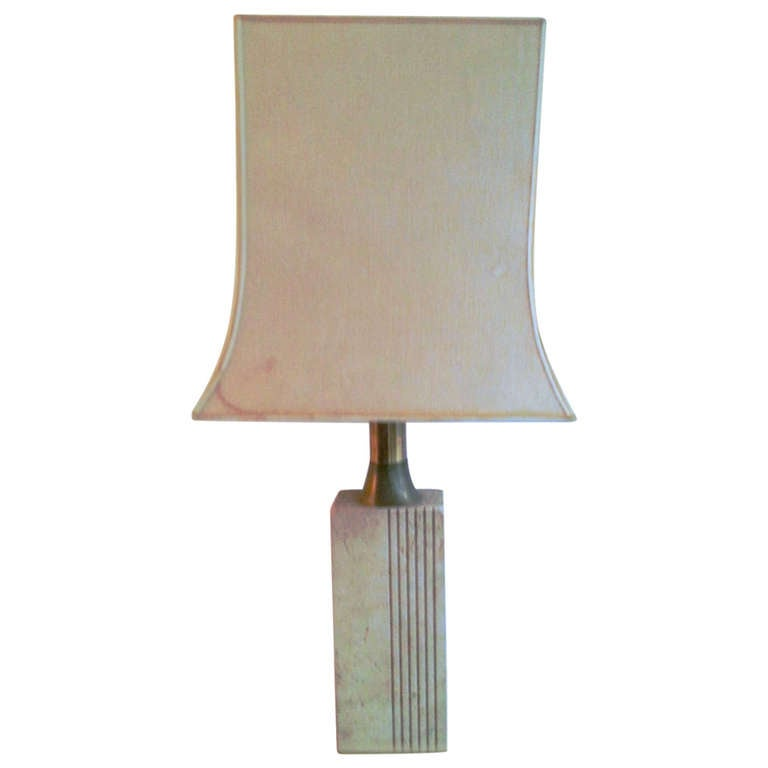 Exquisite 1960 S Travertine Lamp At 1stdibs