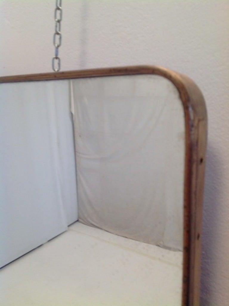 1950s unusually long brass mirror at 1stdibs for Long floor mirror