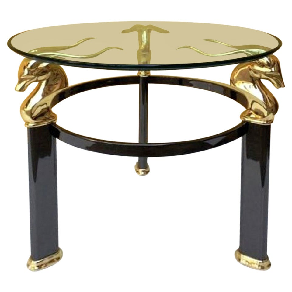 1990s coffee or side table by versace collection at 1stdibs for Table versace