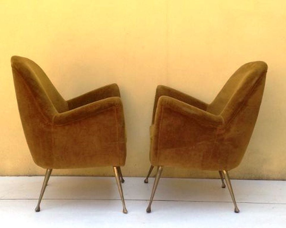1950s amazing pair of small armchairs at 1stdibs for Small armchairs for living room