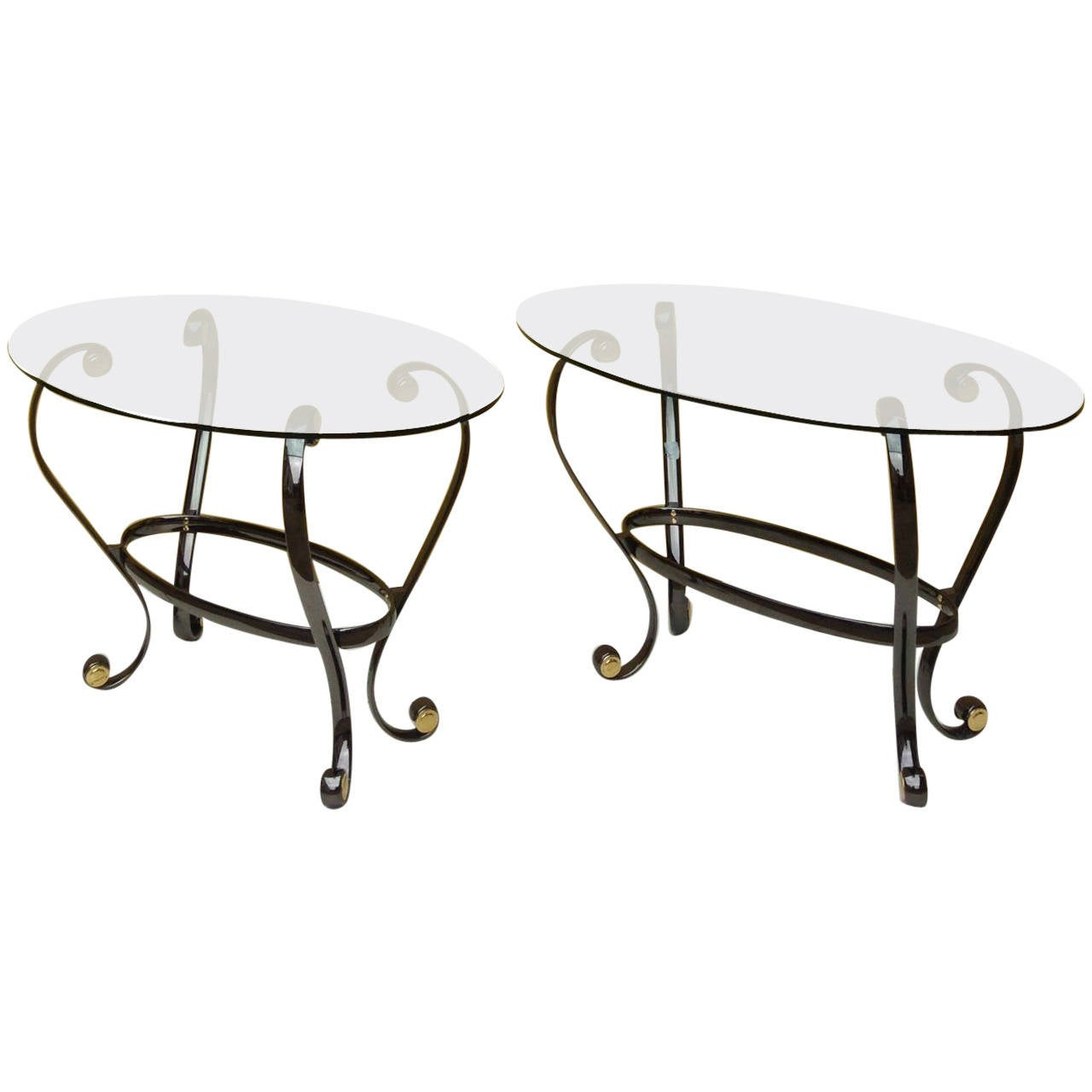 1990s pair of side tables by versace collection at 1stdibs for Table versace