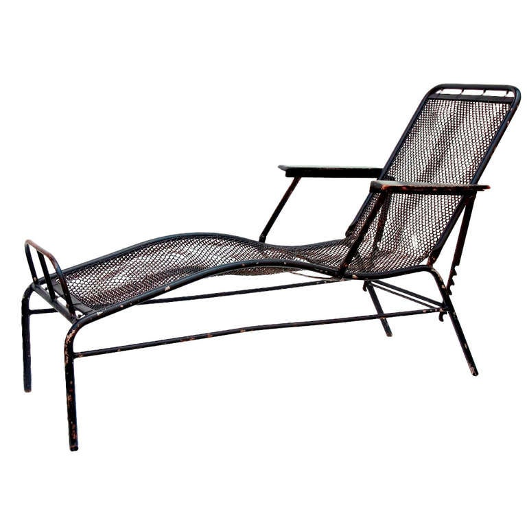 Chaise longue by jean prouv and jules leleu at 1stdibs - Chaise jean prouve prix ...