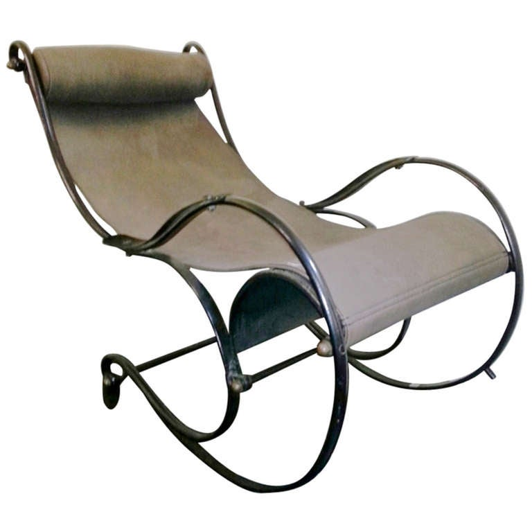 19th C Chaise Longue In Wrought Iron at 1stdibs