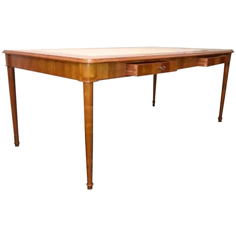 Late 1940s Large Table Desk At 1stdibs