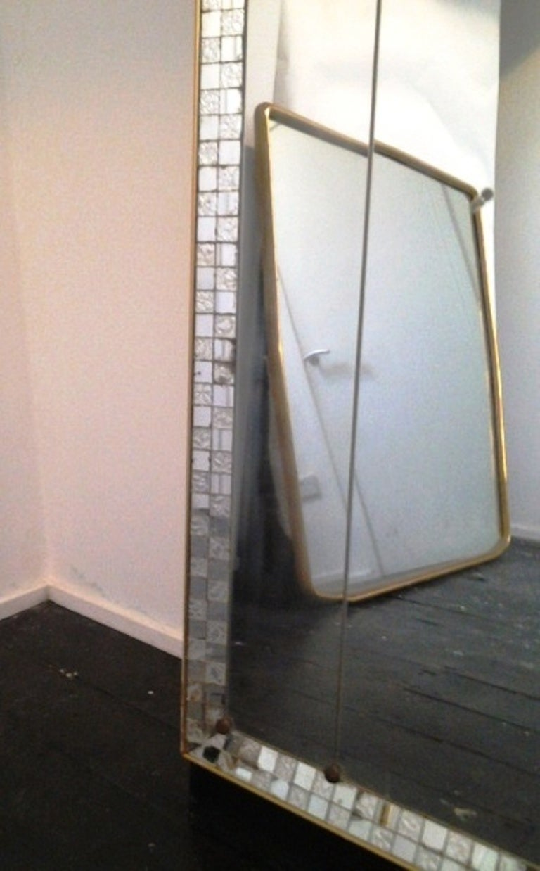 1950s large full length mirror at 1stdibs. Black Bedroom Furniture Sets. Home Design Ideas