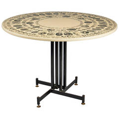 Center Table by Piero Fornasetti, Italy, 1960s
