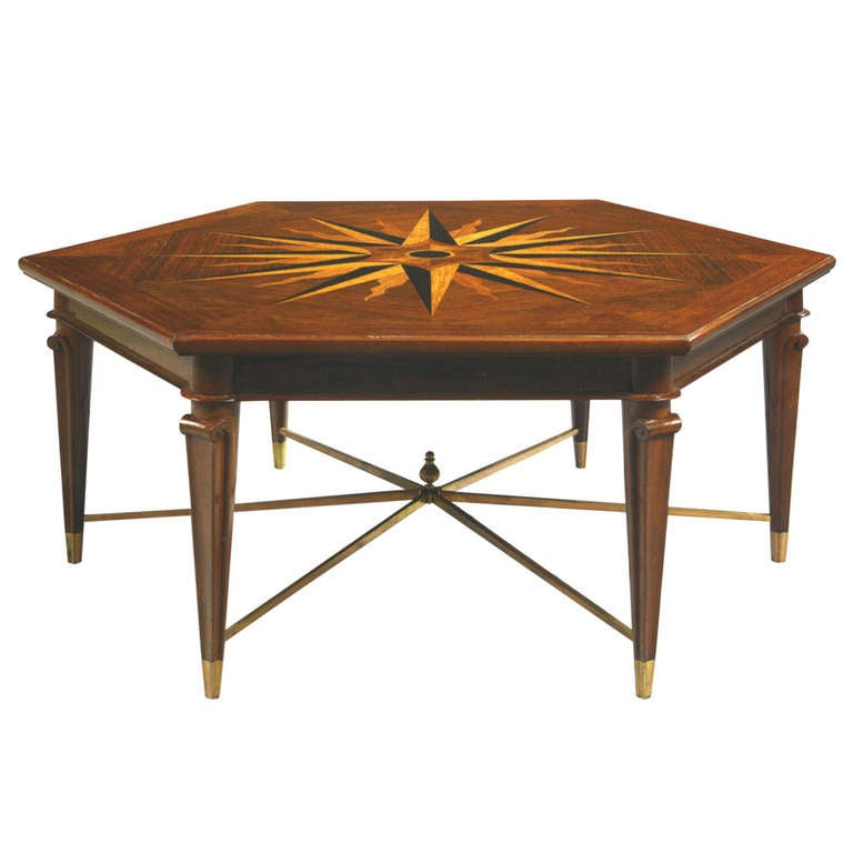 Hexagonal Coffee Table At 1stdibs