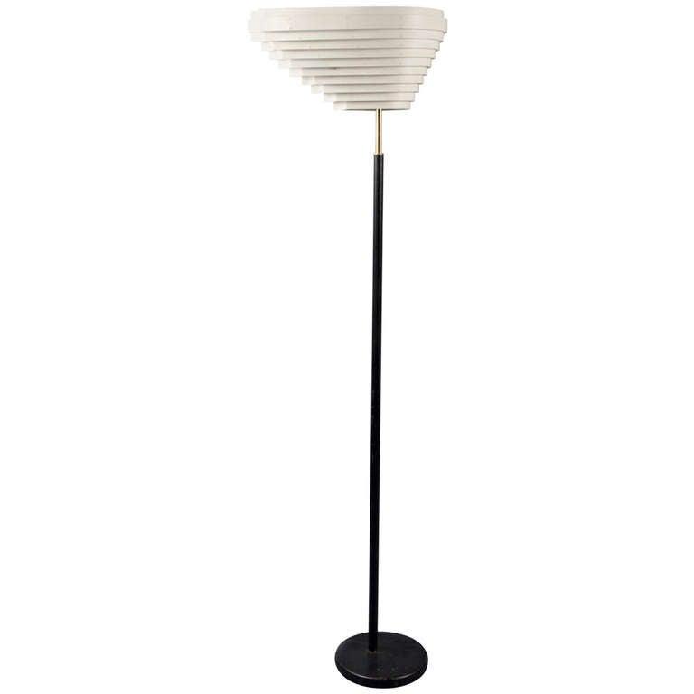 Floor Lamp by Alvar Aalto, Artek Editions, Finland, circa 1953 For Sale