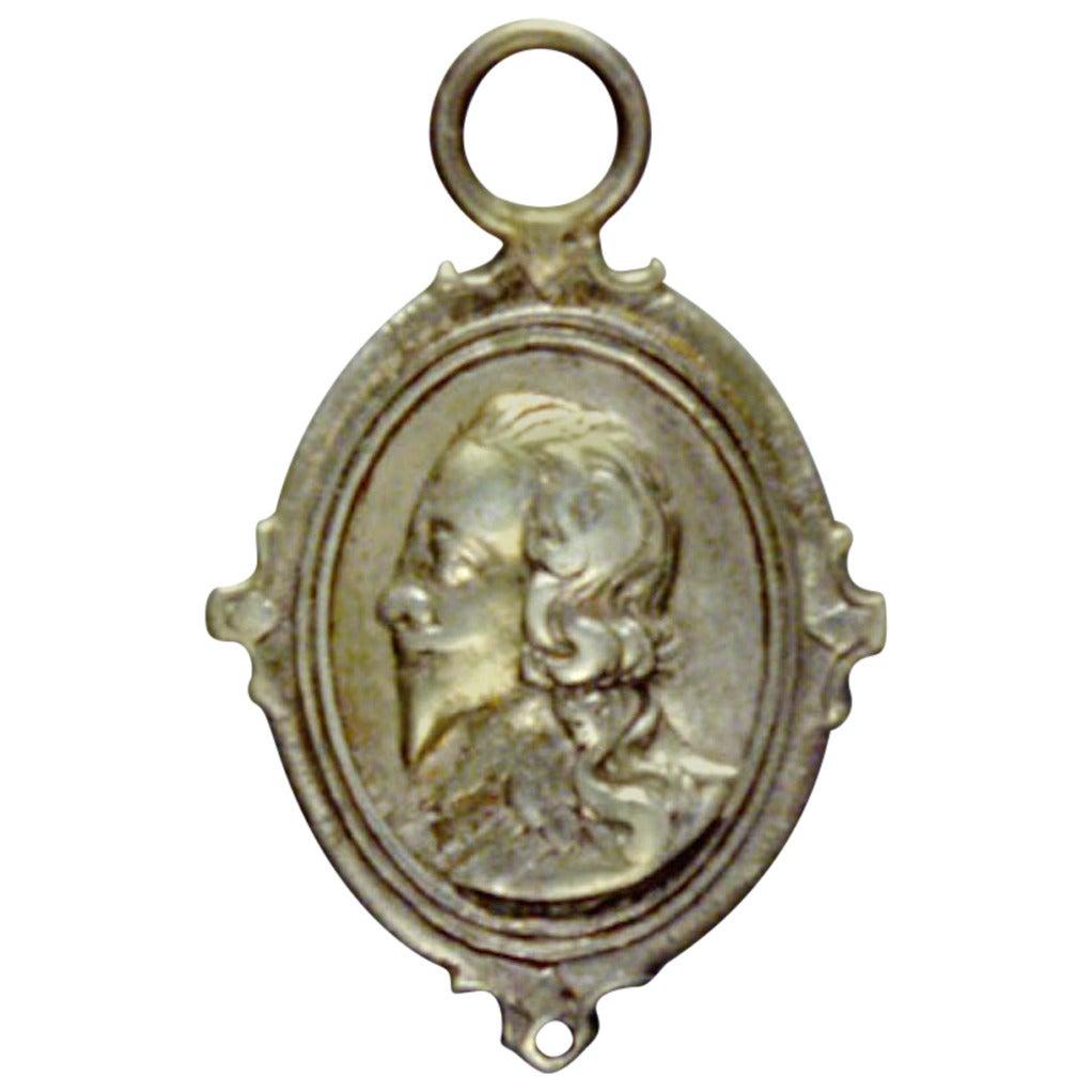 Charles I And Henrietta Maria Silver Loyalty Badge At 1stdibs