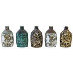Collection of Five 1970s Royal Copenhagen Vases