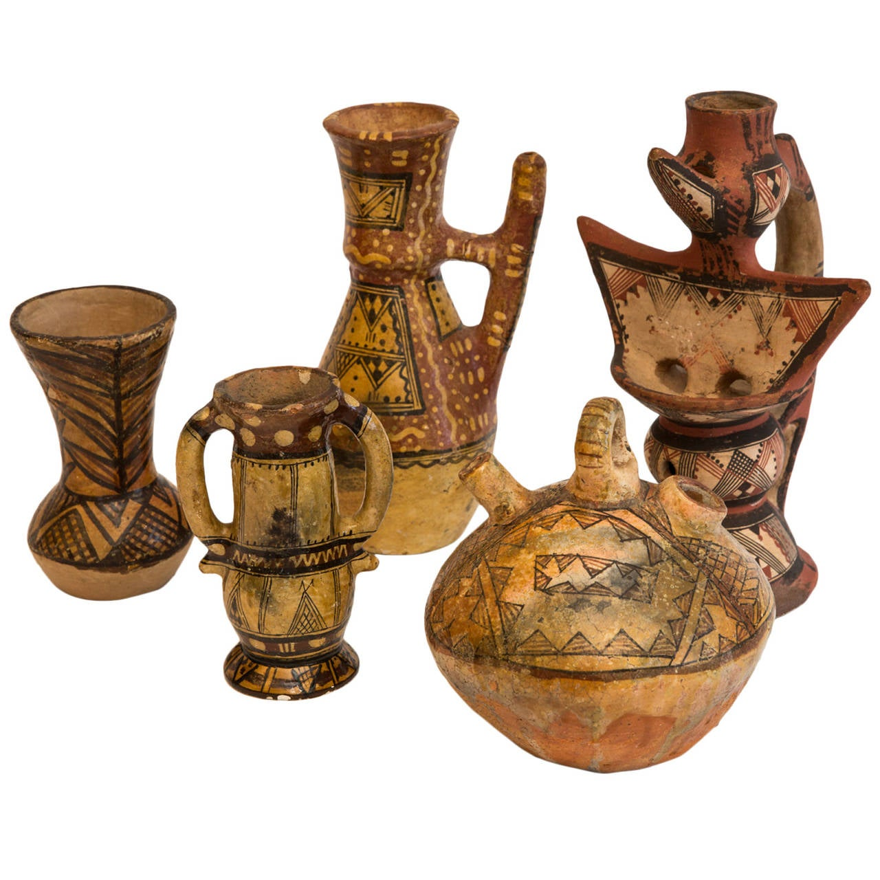Collection of Ideqqi Berber Pottery at 1stdibs