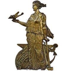 Art Deco Bronze Architectural Plaque
