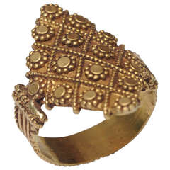 22K Gold Ring, Indian, Early 1900's