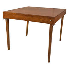 Early 1900's British Campaign Teak Folding Card Table