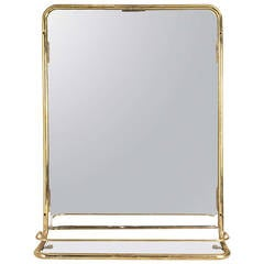 Brass Stateroom Mirror from Midcentury Cruise Ship