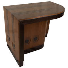 Deco Period Teak and Rosewood Desk from Cruise Ship