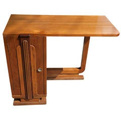 Deco Period Teak Desk from Ship Stateroom