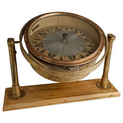 Rare Dry Compass, Kelvin and Hughes, England, Early 1900s