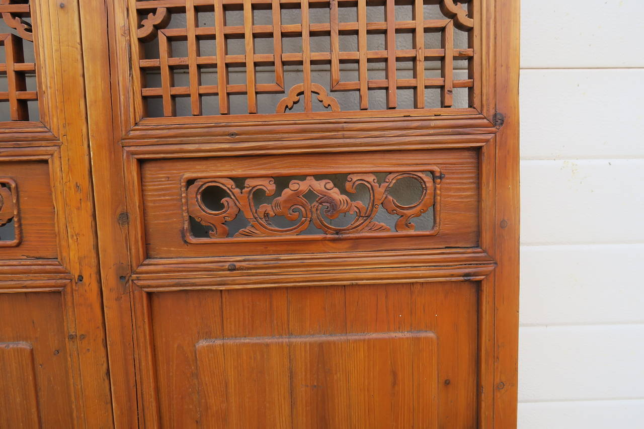 853 #AF5219 Pair Of 19th Century Cypress Chinese Panels For Sale At 1stdibs pic Cypress Exterior Doors 45511280