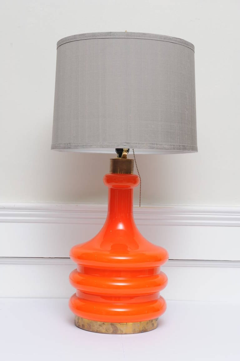 this pair of coral handblown art glass table lamps is no longer. Black Bedroom Furniture Sets. Home Design Ideas
