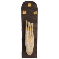 Carved Wooden Buddha's Gesture of Protection Abhaya Mudra