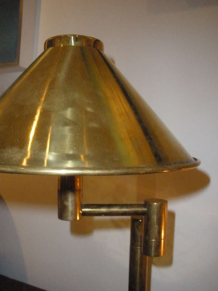 pair of nautical brass swing arm table lamps from a ship 39 s stateroom. Black Bedroom Furniture Sets. Home Design Ideas