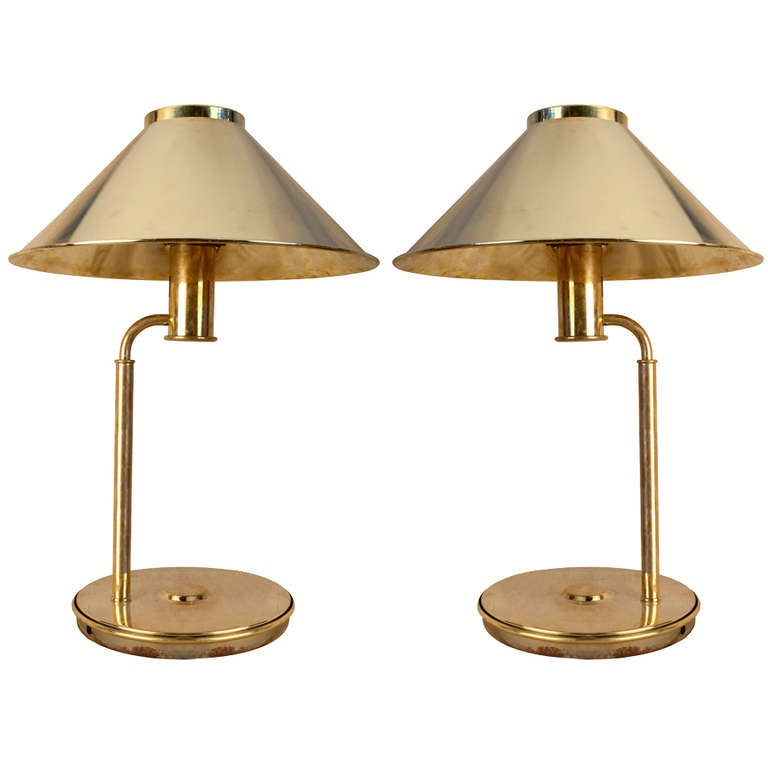 pair of nautical antique brass table lamps at 1stdibs. Black Bedroom Furniture Sets. Home Design Ideas