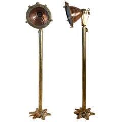 Nautical Antique Copper and Brass Ship's Deck Light