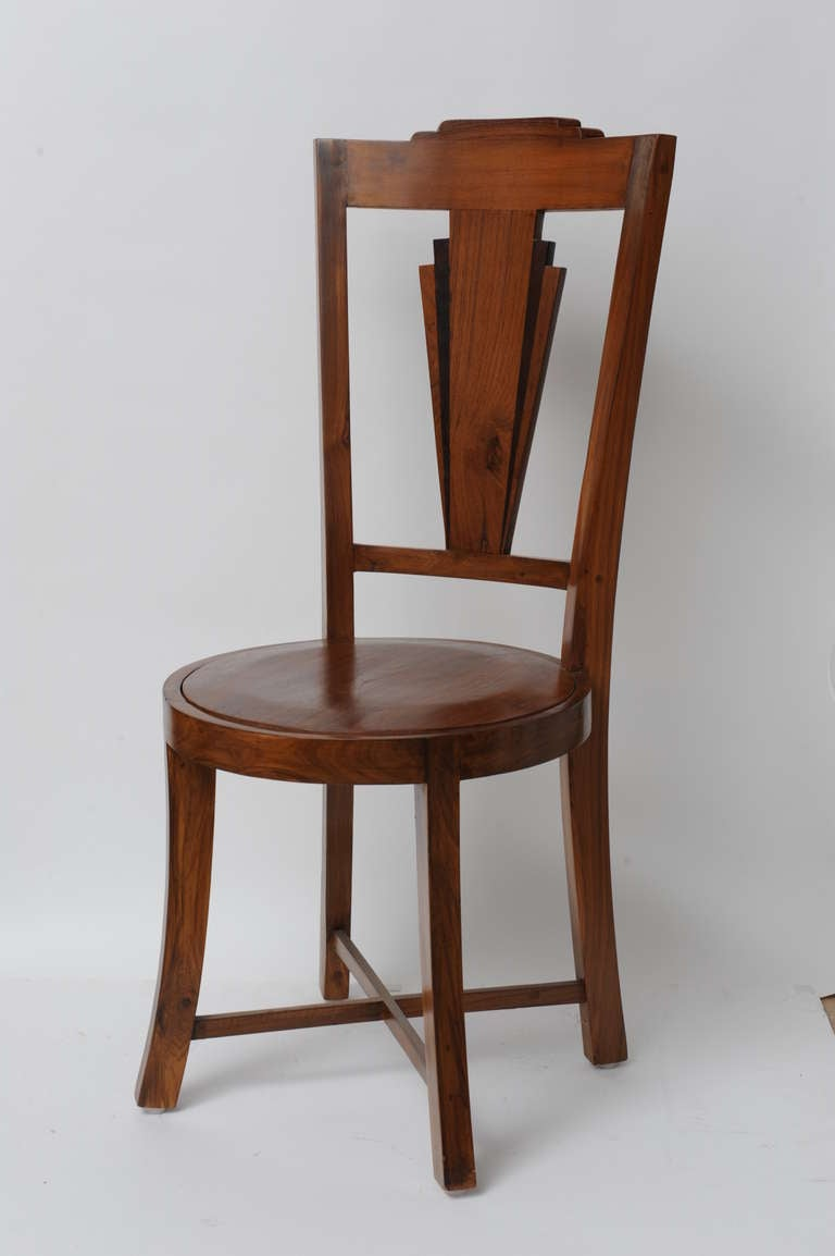 Set of 6 art deco period dining chairs at 1stdibs for Art deco era dates