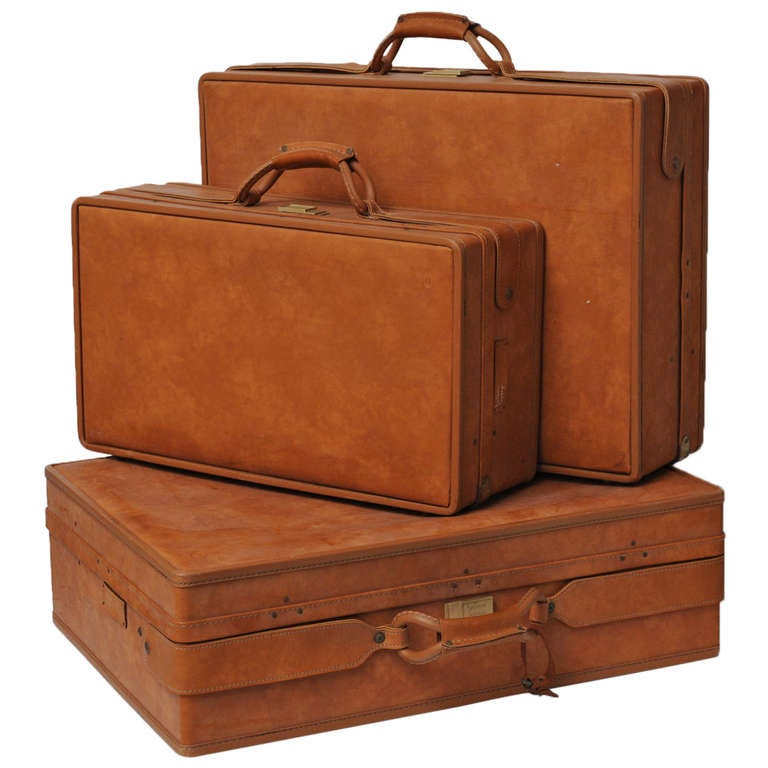 Set of Three Vintage Hartman Luggage at 1stdibs