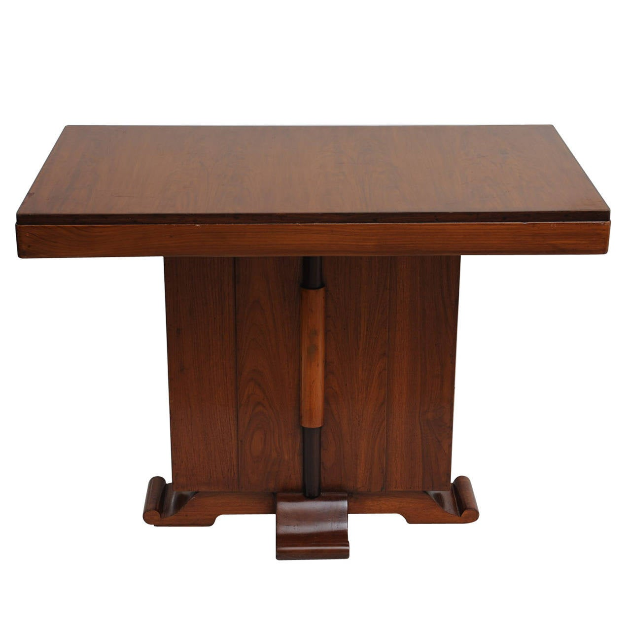 deco period teak mahogany and rosewood console table for. Black Bedroom Furniture Sets. Home Design Ideas