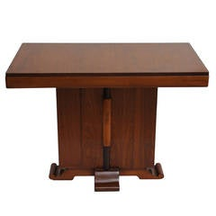 Deco Period Teak, Mahogany and Rosewood Console Table