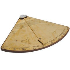 Mid-Century Brass Ship Clinometer