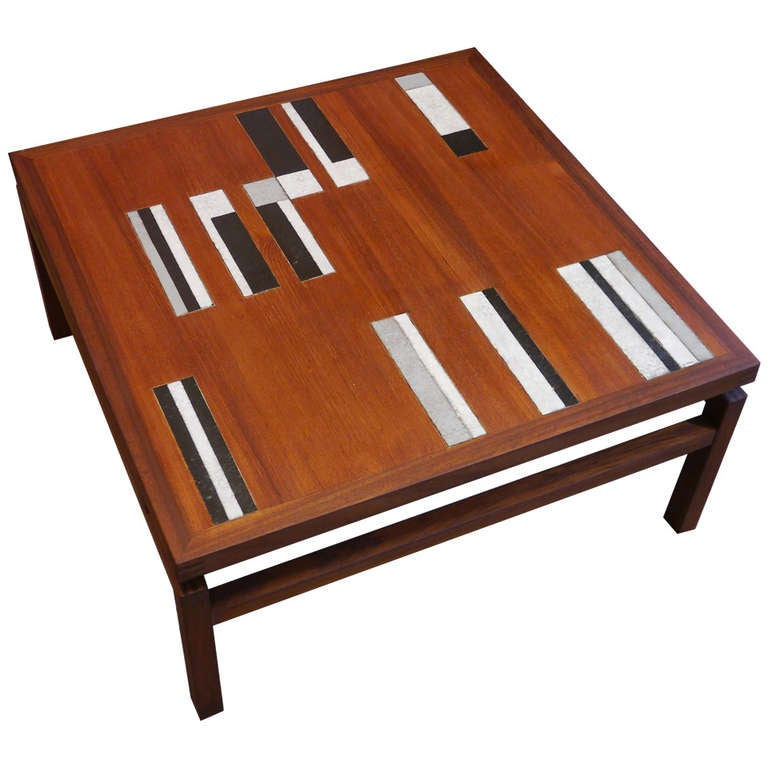 Very rare coffee table by roger capron france circa 1960 for Extremely exotic coffee tables