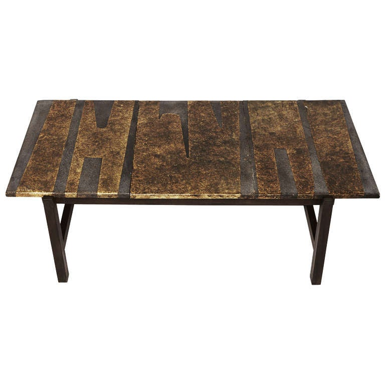 A Glazed Lava Coffee Table By Les Deux Potiers At 1stdibs