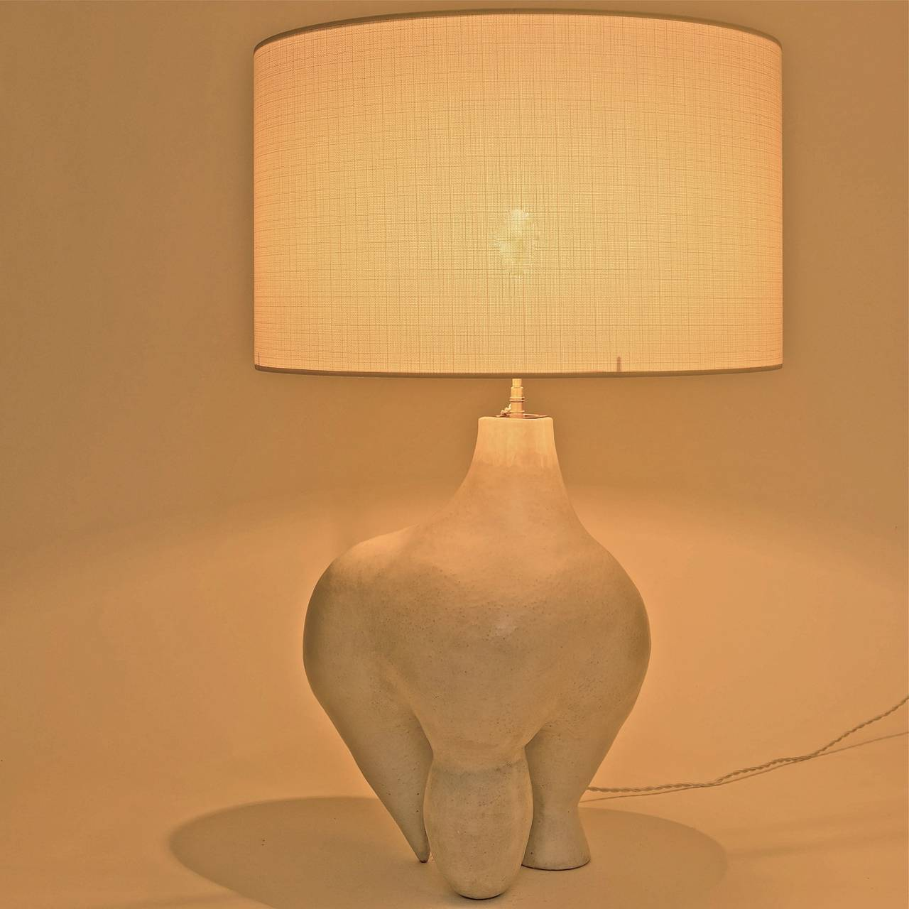 large ceramic lamp base sculpture signed by dalo at 1stdibs. Black Bedroom Furniture Sets. Home Design Ideas