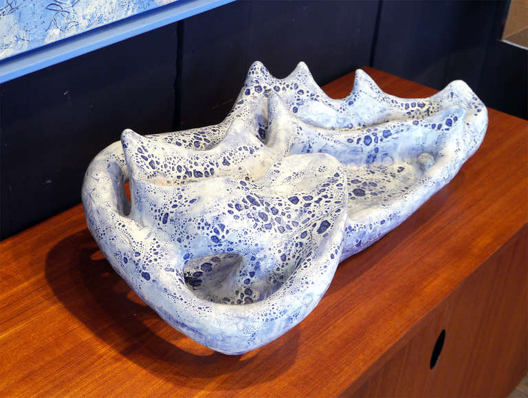 French Wall Ceramic Sculpture by Jean Megard, France, 1971 For Sale