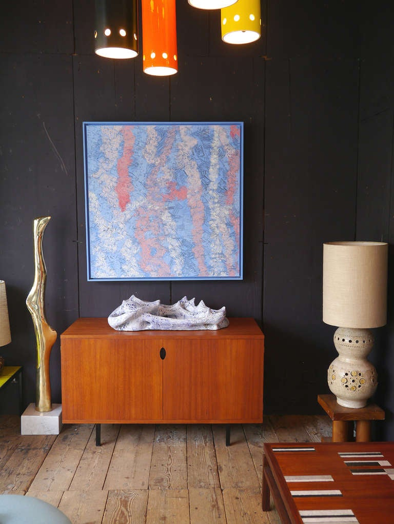 Wall Ceramic Sculpture by Jean Megard, France, 1971 For Sale 2