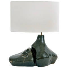 Large Ceramic Lamp Base Signed by Tim Orr