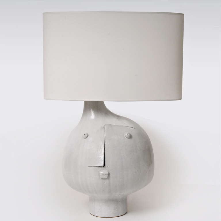 Mid-Century Modern Important Ceramic Table Lamp by DaLo For Sale