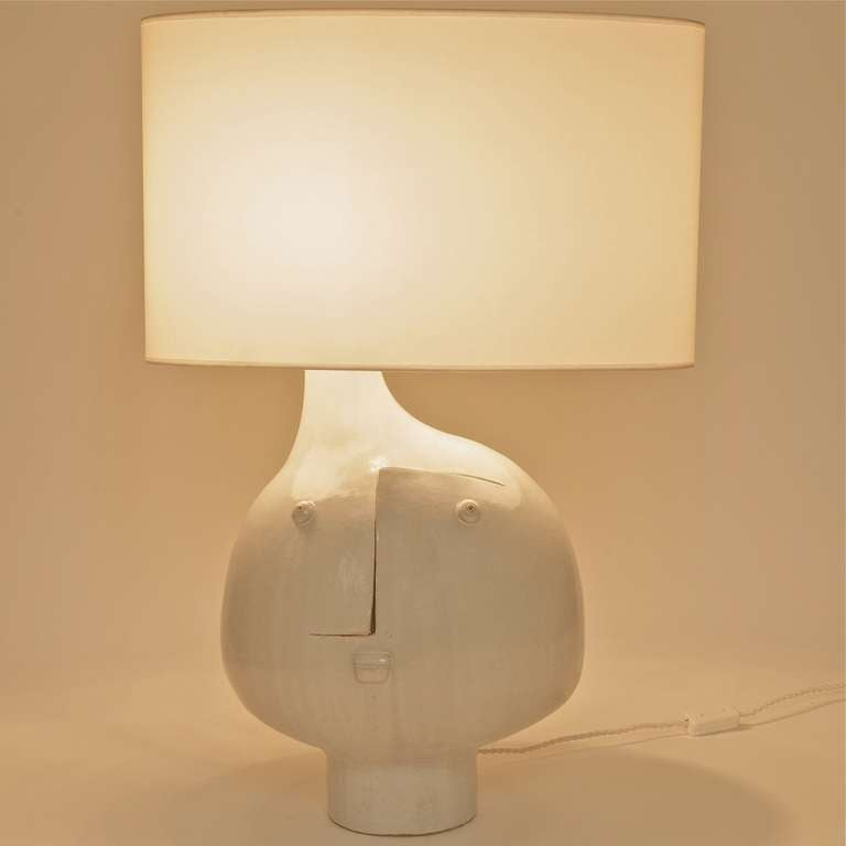 Important Ceramic Table Lamp by DaLo In Excellent Condition For Sale In Saint Ouen, FR