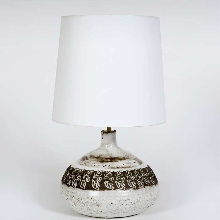 Mid Century Modern White Ceramic Table Lamp Base By Albert Thiry For