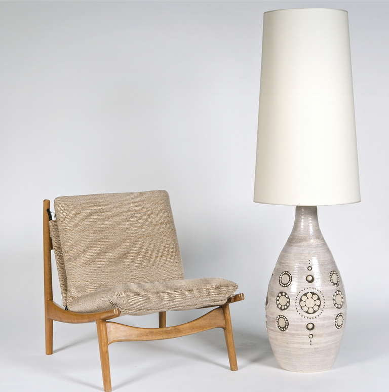 Exceptional Ceramic Floor Lamp Base By Georges Pelletier At 1stdibs