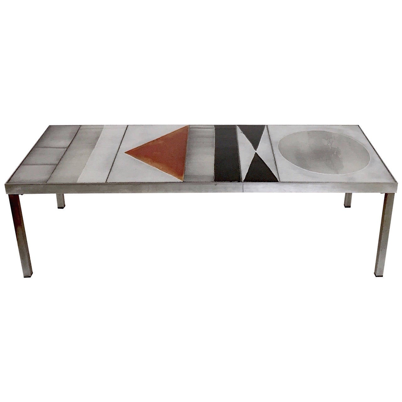 Rare Coffee Table Signed By Roger Capron At 1stdibs