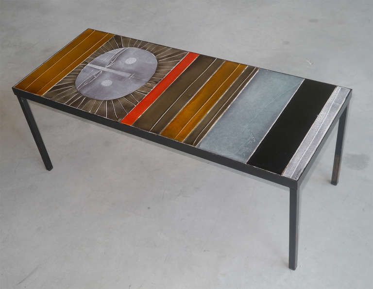 Iconic low table by roger capron at 1stdibs for Iconic tables