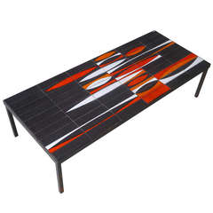 """Iconic """"Navettes"""" Low Table by Roger Capron"""
