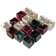 Jacques Barbier - Group of 16 Ceramic Boxes - circa 1970